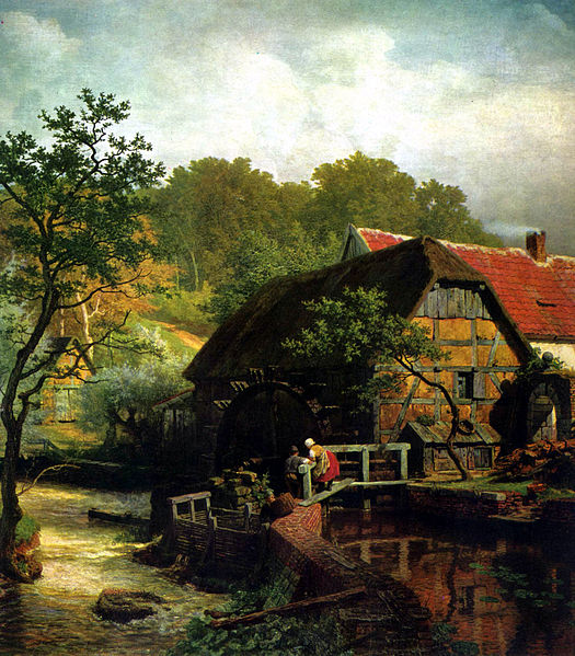 Painting by Andreas Achenbach