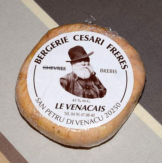 Le Venacais cheese from Santo-Pietro-di-Venaco, Corsica. Photo by Pierre Bona.