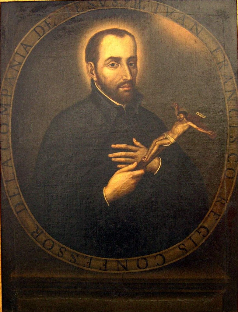 18th Century painting of St. John Francis Regis in the Church of St. Ignatius, Bogotá, Colombia by Gustavo Adolfo Vives Mejía