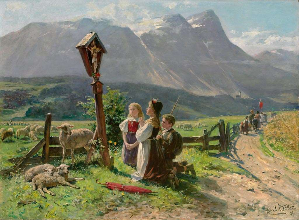 'At the crossroads'  By Carl Böker