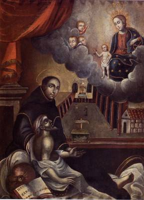 Painting of St. John of God by Cuzco School.
