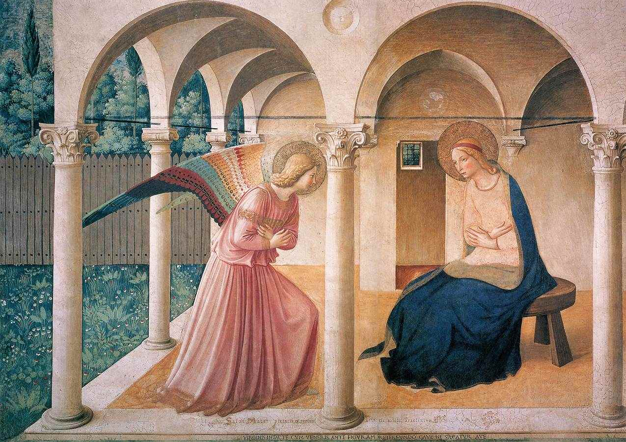 The Annunciation by Bl. Fra Angelico at the Convento di San Marco, Florence