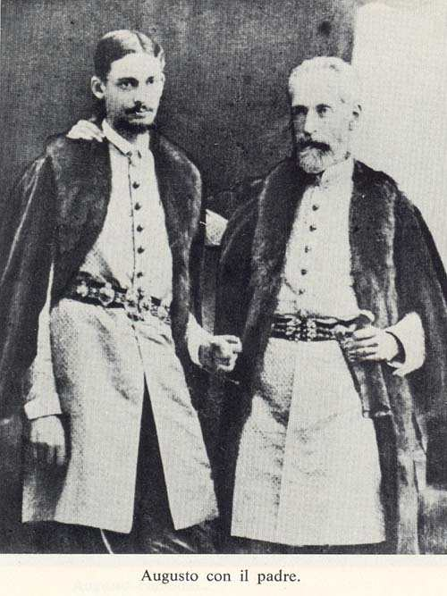 Prince Augusto Czartoryski with his father