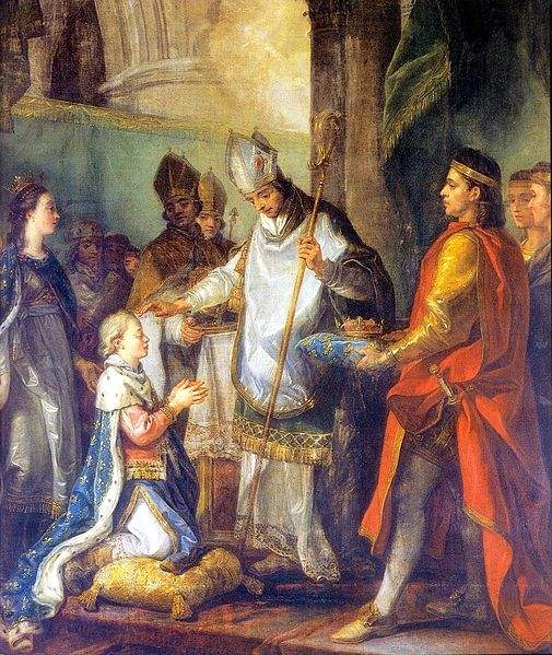 St. Louis being crowned King of France at Reims, November 29, 1228.