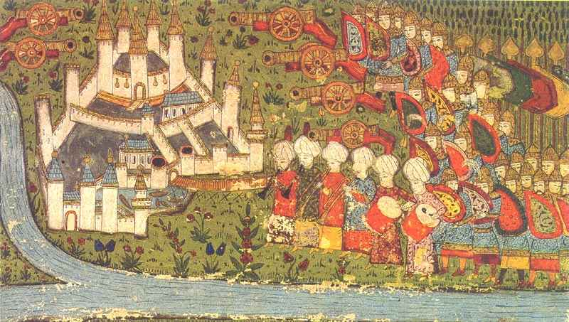 Turkish miniature of the siege of Belgrade 1456