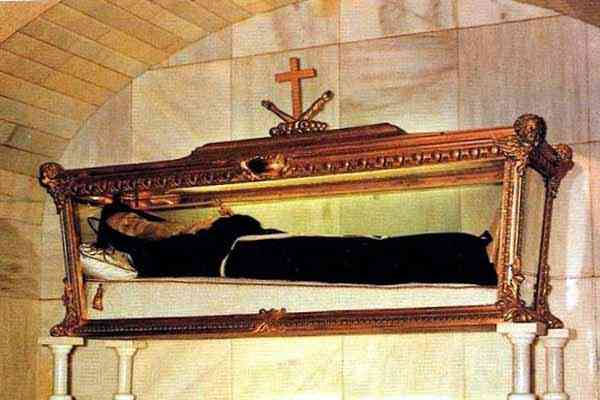 The relics of St. Lawrence da Brindisi at the Villafranca del Bierzo, Spain.