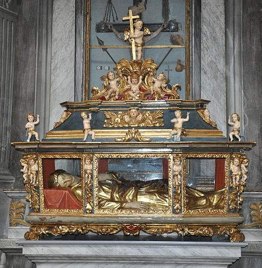 "The tomb of St. Sabina, which is in the church ""Santi Pietro e Paolo"" in Ascona."