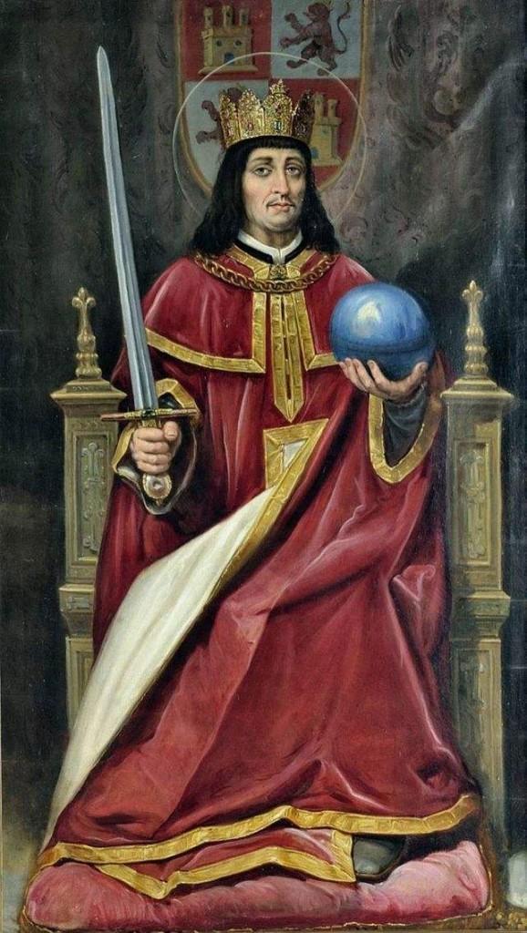 King of Castile and León, Saint Ferdinand III. Painting by José María Rodríguez de Losada.