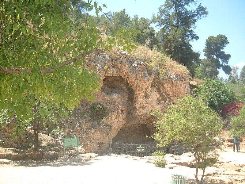 Gideon's cave in Maayan Harod National Garden in Israel.