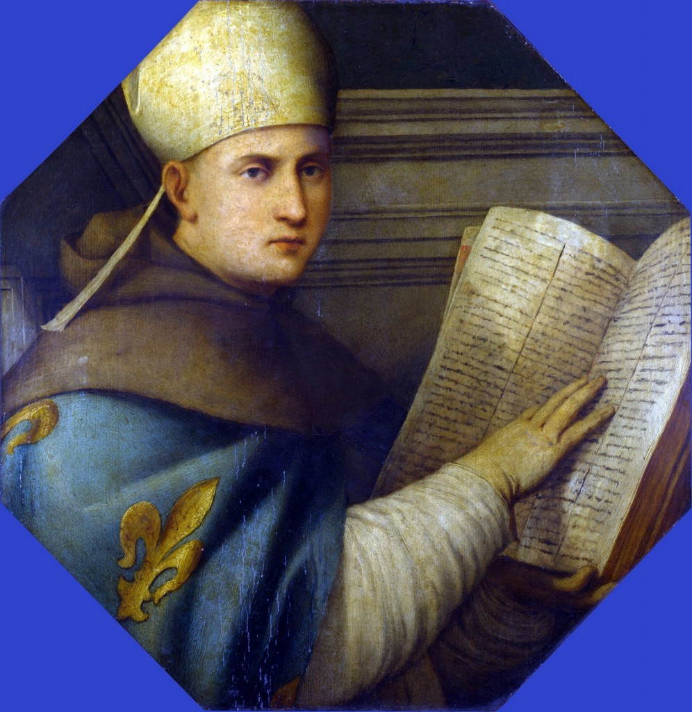 Painting of Saint Louis of Toulouse by Giovanni Antonio Pordenone at the National Gallery in London.