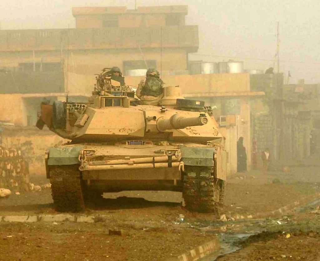 Soldiers from 3rd Armored Cavalry Regiment conduct security in Biaj, Iraq. Photo by Department of Defense.