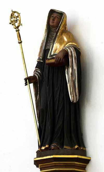 Statue of St. Hildegard