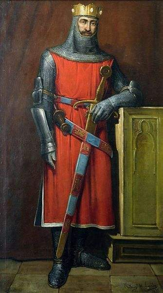 Painting of Alfonso IX de León by José María Rodríguez de Losada.