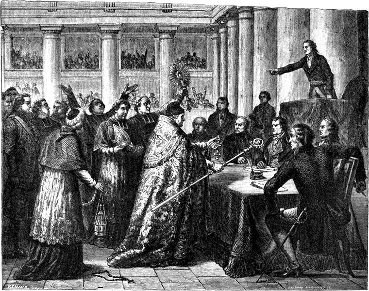 The Princes of the French Church swearing the Oath demanded by the Concordat of 1801.