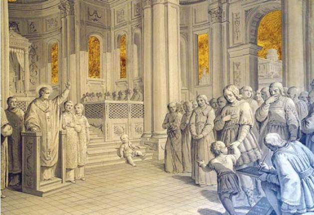 St. Chromatius preaches in the Basilica of Aquileia.