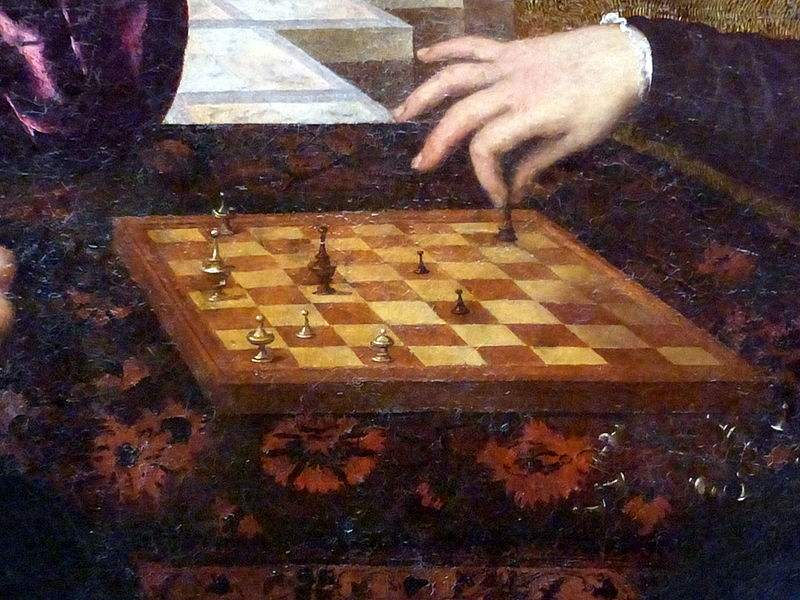 Two chessplayers by Paris Bordone