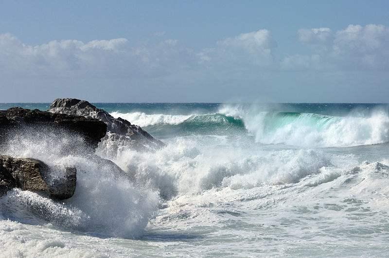 Photo of the Ocean off the coast of Fuerteventura near Ajuy, Spain taken by Simisa.