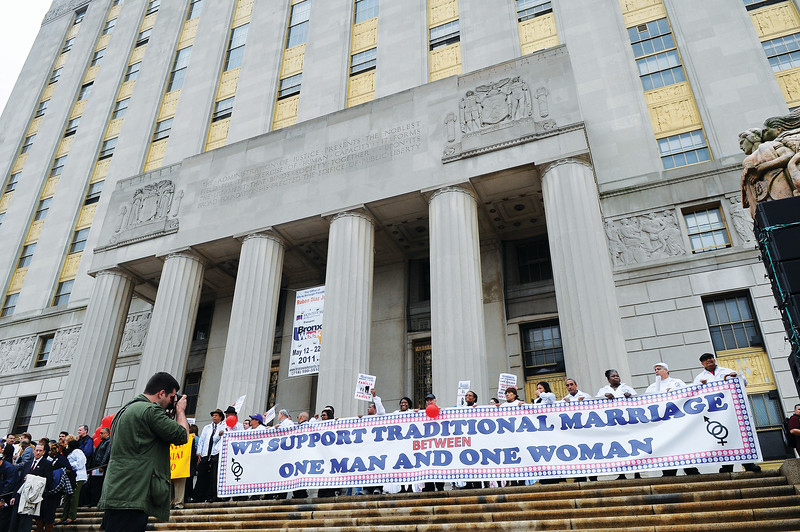 Thousands March to Save Marriage in New York City. The march was organized by State Senator Ruben Diaz.