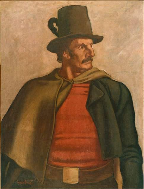 Josef Speckbacher, painted by Albin Egger-Lienz
