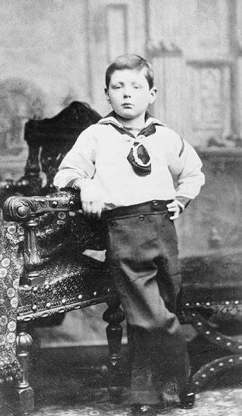 Winston Churchill, aged 7, in Dublin, Ireland.