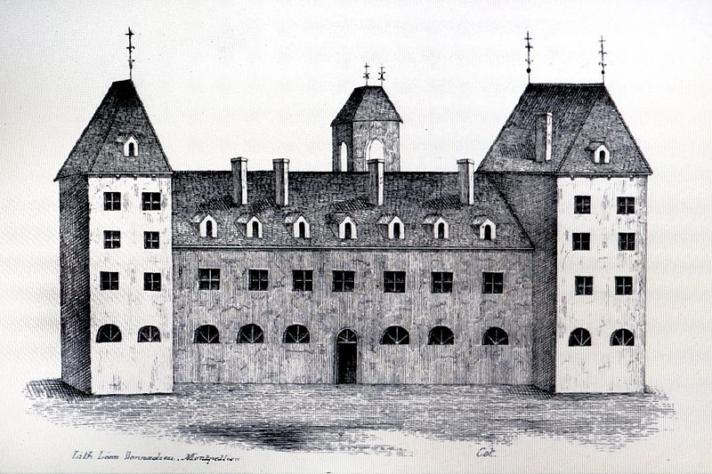 The monastery and hospital (Hôtel-Dieu) that served as the Order's headquarters was called the Dômerie d'Aubrac. It was founded in 1031 by Adalard, Viscount of Flanders in the village of Aubrac, southern France.