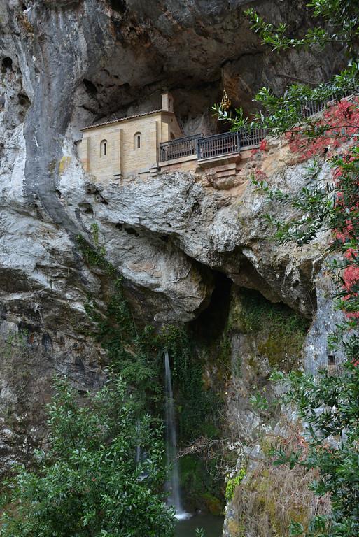 The cave of Covandonga, Asturias, Spain.