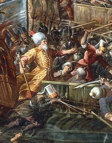 Naval battle of Lepanto by Andrea Micheli