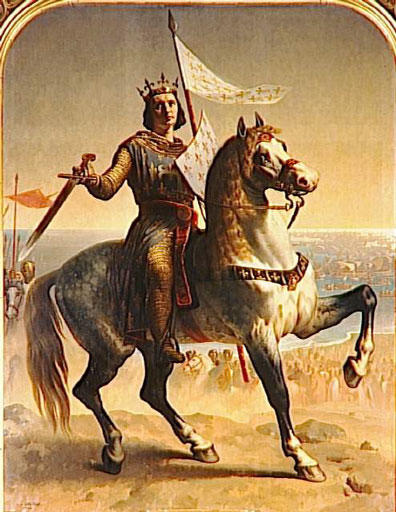King St. Louis IX. Painted by Emile Signol in 1839  and preserved at Versailles, Musée national du château and Trianon.