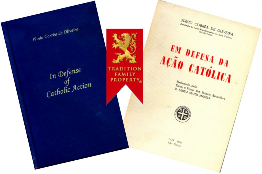 Special mention should be made of his book, In Defense of Catholic Action (1943), honored with a letter of praise sent to the author, on behalf of Pope Pius XII, by Msgr. G. B. Montini, then substitute to the Vatican Secretary of State and later Pope Paul VI;
