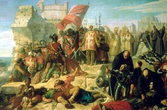 Levée du siège de Malte by Charles-Philippe Larivière