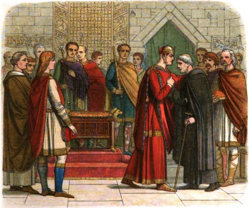 William the Conqueror pays court to the English leaders