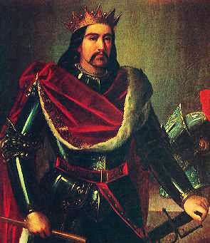 Pedro II, king of Aragon by Manuel Aguirre y Monsalbe