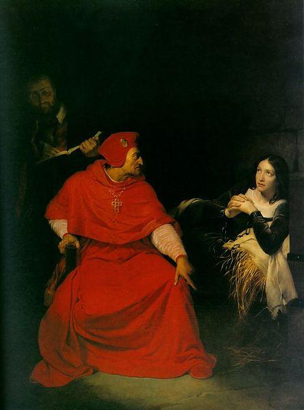 http://commons.wikimedia.org/wiki/File:Joan_of_arc_interrogation.jpg