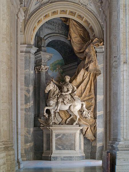 http://commons.wikimedia.org/wiki/File:Charlemagne_Agostino_Cornacchini_Vatican.jpg