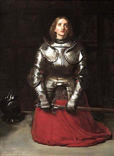 http://commons.wikimedia.org/wiki/File:Millais_Joan_of_Arc.jpg