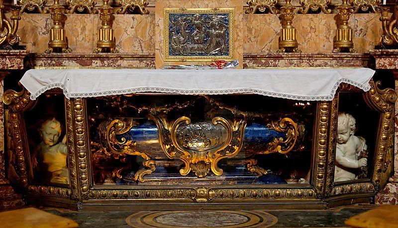 Tomb of Saint Aloyisius Gonzaga in the Church of Saint Ignatius, Rome