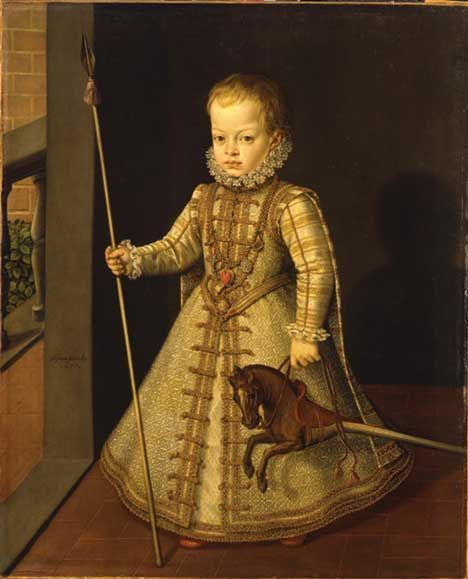 St. Aloysius was a page for Diego Félix of Austria, Infante of Spain (1575 – 1582).