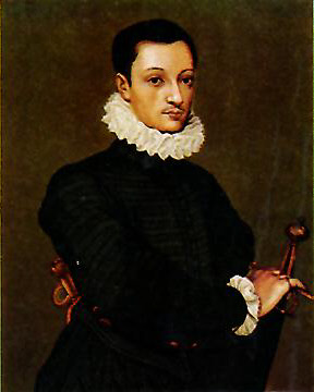 Saint Aloysius Gonzaga at age 17.