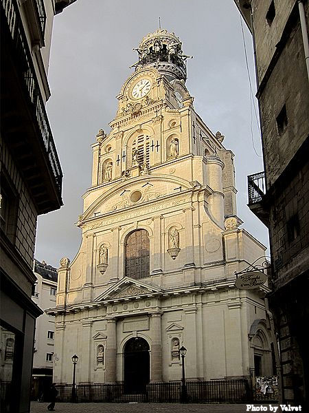 Sainte Croix church, which was used as a prison during the French Revolution.