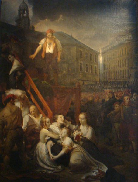 The Executions of the sisters of La Métairie, at Nantes in 1793. Painted by Auguste-Hyacinthe Debay.