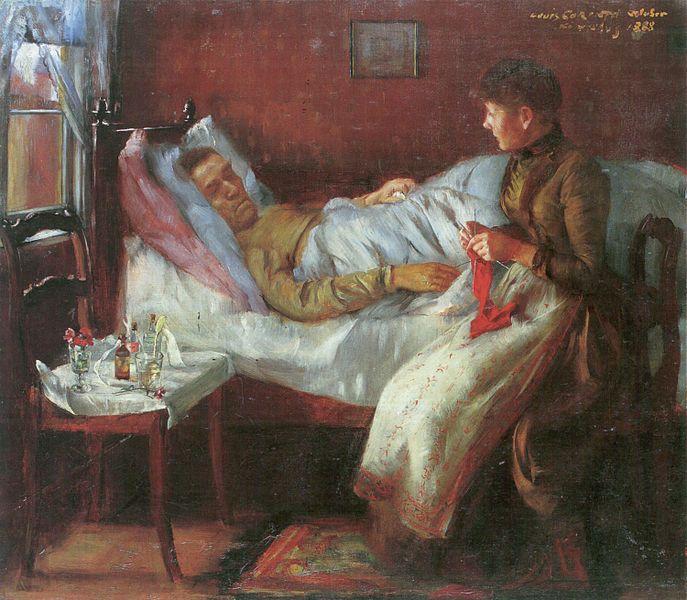 Painting by Lovis Corinth