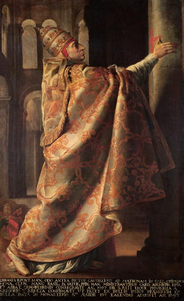 Pope Urban II Consecrating the Church of St. Sernin of Toulouse. Painting by Antoine Rivalz