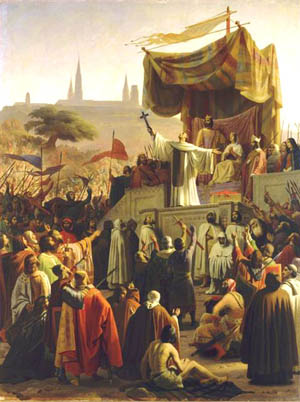 St. Bernard preaching the Second Crusade painted by Émile Signol.