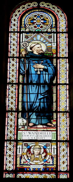 Stained glass window in Clichy, France. Picture by GFreihalter