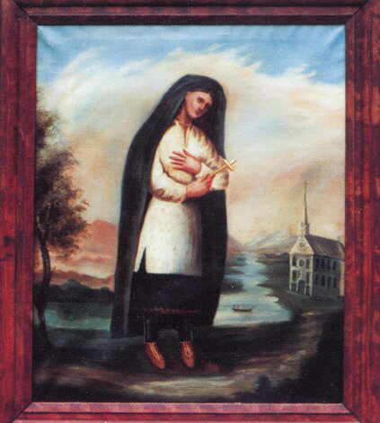 St. Kateri Tekakwitha painted by Father Chauchetière between 1682-1693.