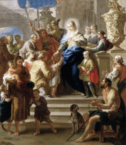 St. Elizabeth distributing alms to the poor.