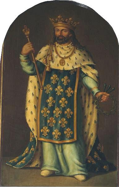 St. Louis IX. Painting in Notre-Dame de Poissy