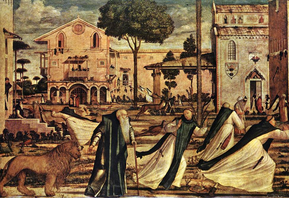 Painting of St Jerome and the Lion by  Vittore Carpaccio