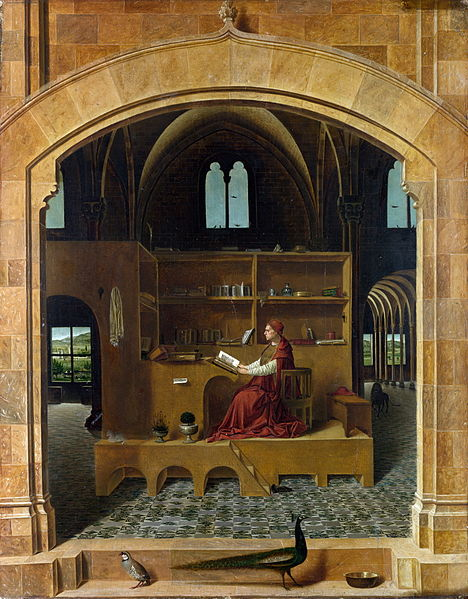 Painting of St. Jerome by Antonello da Messina