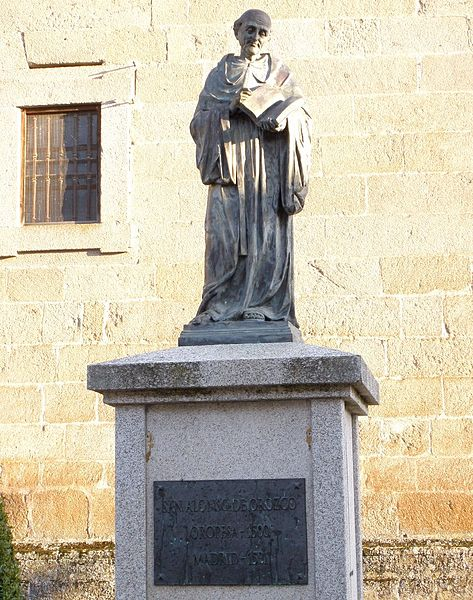 Monument of San Alonso de Orozco, in Oropesa, Toledo, Spain.